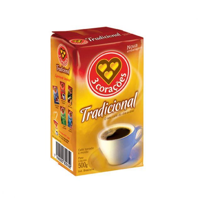 Café em Pó Tradicional 500gr - 3 Corações