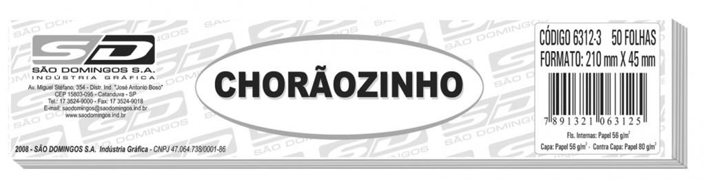 Chorãozinho para Cheque com 50 Folhas - São Domingos