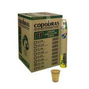 Copo Plástico Descartável 180ml c/ 100un Creme - Copobras (PP)