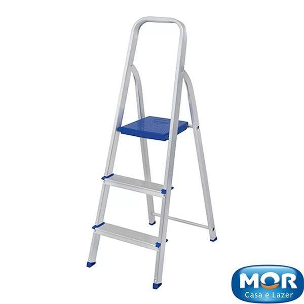 Escada Alumínio 3 Degraus - Mor
