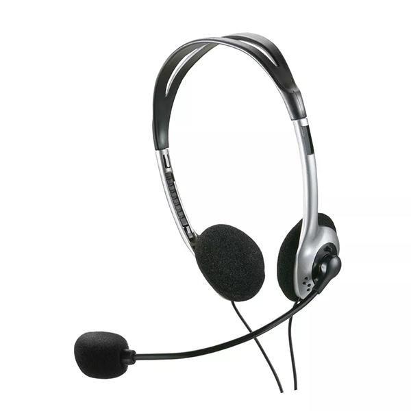 Headset com Microfone Basic P2 Prata PH002 - Multilaser
