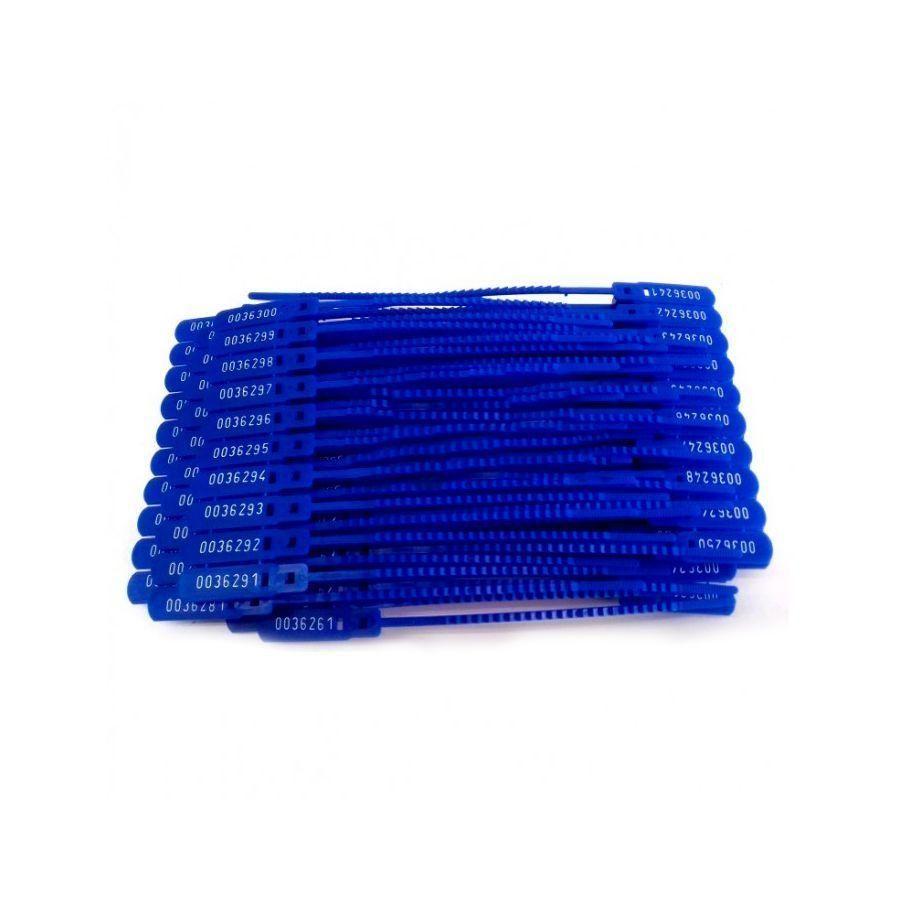 Lacre 16cm Azul com 100 UN
