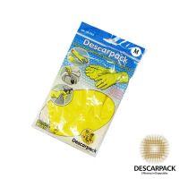 Luva Latex Limpeza Amarela M - Descarpack