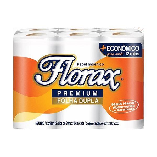 Papel Higiênico Folha Dupla 20m PT 12 RL Florax Premium
