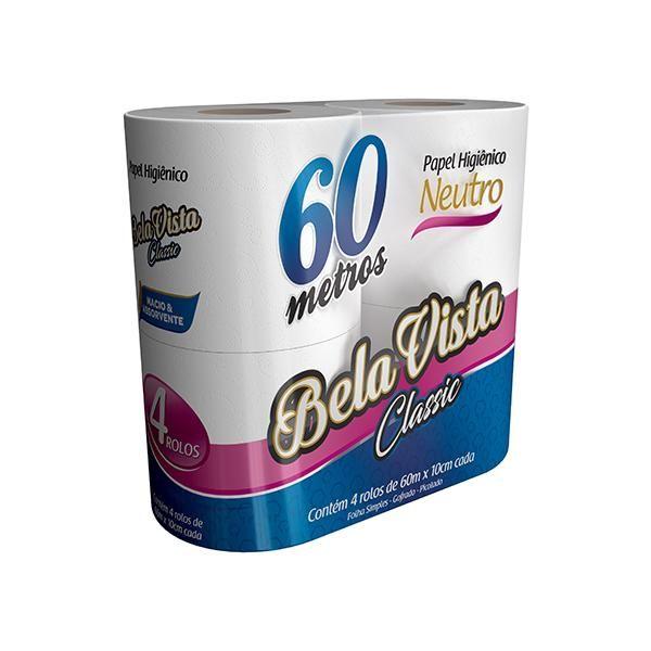 Papel Higiênico Folha Simples 60m Branco PT 64 RL Classic