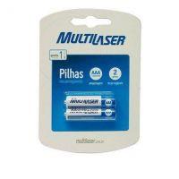 Pilha Recarregável Palito AAA 2un - Multilaser